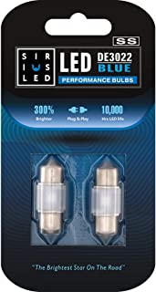 SIRIUSLED SS DE3022 DE3021 28MM LED Festoon Bulb for Car Interior Map Dome Trunk Cargo Light with Cylinder Design Smooth B...