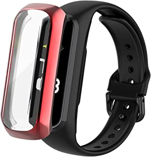 PC-beschermende Film Voor Samsung Galaxy Fit 2 SM-R220 Smart Polsband Fit2 R220 Screen Protector Cover (Color : Red)
