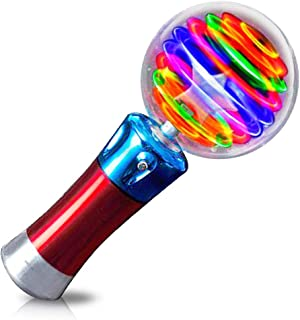 ArtCreativity 7.5 Inch Light Up Magic Ball Toy Wand for Kids - Flashing LED Wand for Boys and Girls - Thrilling Spinning L...