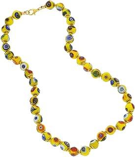 Murano Glass Mosaic Necklace - Yellow