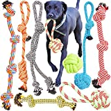 Youngever 8 Pack Large Dog Rope Toys, Dog Chew Toys, Dog Toys for Medium Large Dogs