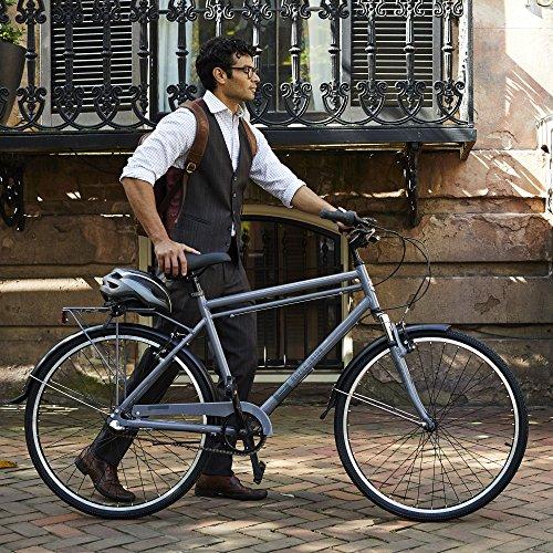 "700c Royce Union RMX Mens 3-Speed Commuter Bike, 19"" Aluminum Frame, Cool Gray"