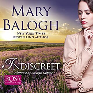 Indiscreet     The Horsemen Trilogy, Book 1              By:                                                                                                                                 Mary Balogh                               Narrated by:                                                                                                                                 Rosalyn Landor                      Length: 10 hrs and 28 mins     10 ratings     Overall 4.8