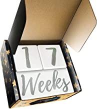 Stoneboat Baby Milestone Blocks | Baby Age Blocks for Monthly Milestone Photo Prop | Premium Solid Wood Months Block | Baby Shower Gender Reveal Or Baby Registry Must Have | Displays Days to Years