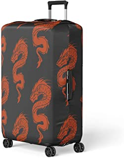 Flat Style Cityscape Colorful Spandex Trolley Case Travel Luggage Protector Suitcase Cover 28.5 X 20.5 Inch