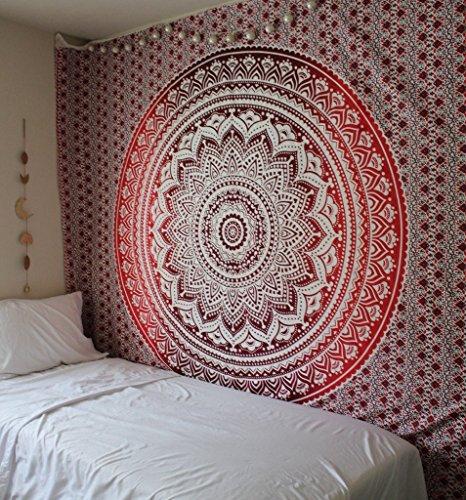 Exclusivo Tapiz Ombre de la marca 'Labhanshi, Indian Mandala decorativo, Hippie colgar en la pared, bohemio Colcha