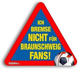 Kfz-Aufkleber Ich Bremse Nicht für Braunschweig-Fans   Für mehr Spaß im Verkehr für alle Hannover 96-, Wolfsburg-, St.Pauli- & Fußball-Fans   Vereinsaufkleber - PKW Auto Kfz Aufkleber