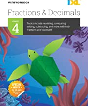 IXL | Grade 4 Fractions & Decimals Math Workbook | Fun Math Practice for Ages 9-10, 112 pgs