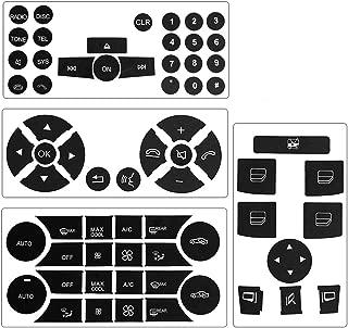 Steering Wheel & Window Switch & Radio & AC Button Stickers for 2008 2009 2010 2011 2012 2013 2014 Mercedes Benz W204 C250 C300 C350 E-Class ML GL GLK