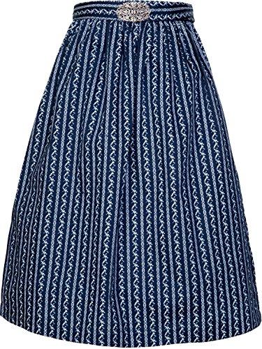 MarJo Leder & Tracht Damen Dirndlschürze mit Schnalle 68er Länge und 65er Länge NEU (XL, dunkelblau 68er Länge)