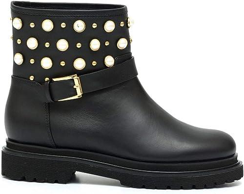 NINALILOU - Kora Stiefelies in schwarz Leather with Studs - 272771KORA 277