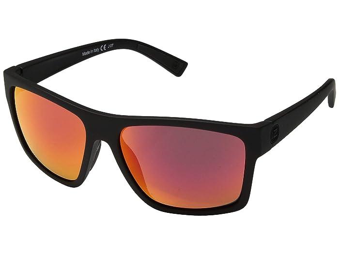 VonZipper  Dipstick (Black Satin Red Chrome) Fashion Sunglasses