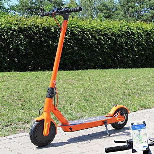 Smartway Elektro Scooter 500 Watt E-Scooter mit APP & Bluetooth Elektroroller Faltbar Roller Aluminium EScooter (orange)