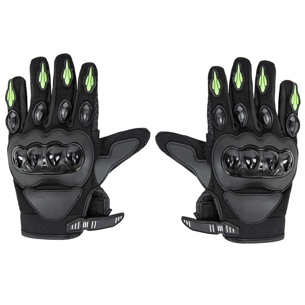 Basics Motorbike Powersports Racing Gloves Green Large