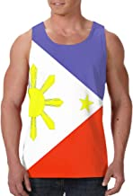Mipu Shangmao Philippines Flag Men's All Over Print Sleeveless Tank Top Casual Sport Gym Vest