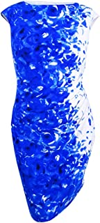 LAUREN RALPH LAUREN Womens Petites Sleeveless Floral Sheath Dress Blue 6P