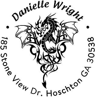 Address Stamp Self Inking Personalized Dragon Imperial Design Return Address Stamper