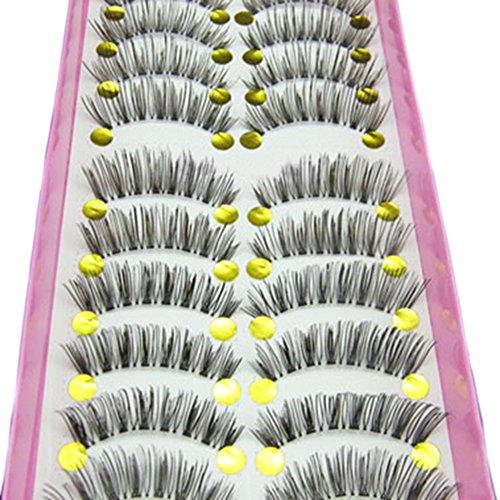 Bluelans® 10 Paar Lang Kreuz Künstliche Falsche Wimpern Weiche Dick Schwarz Eyelasches Wimpernverlängerung