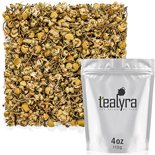 Tealyra - Lovely Night - Chamomile Rooibos Mint - Calming & Relaxing - Herbal Loose Leaf Tea - Antioxidants Rich - All Natural Ingredients - Caffeine-Free - 110g (4-ounce)