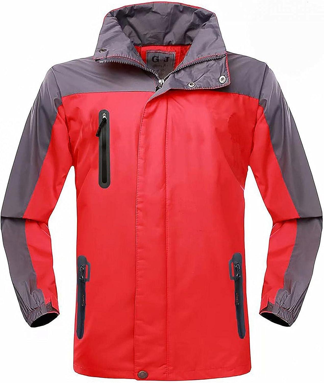 Womens Lightweight Waterproof Rain Jacket Active Outdoor Hooded Windbreaker Pockets Quick Drying Coat Winter Outwear