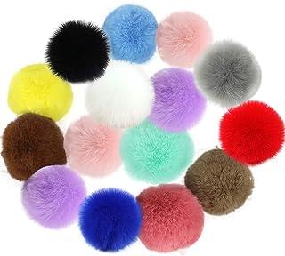 Outgeek Pompom de pele sintética, 30 peças, criativo, multiuso, pompom, artesanato, pompom, enfeite para roupas