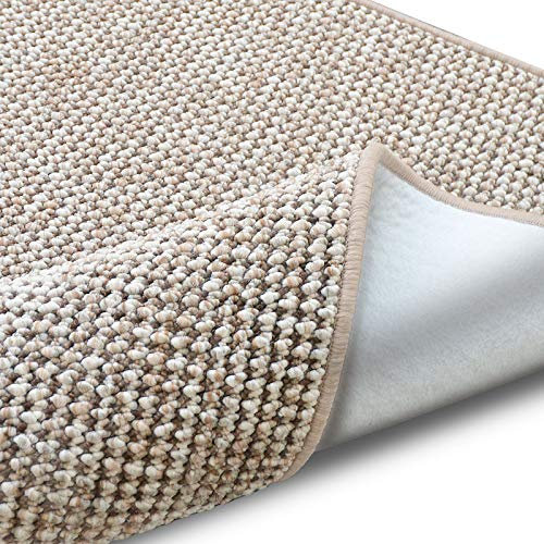 casa pura Teppich Grandeur | pflegeleichtes Bouclé | viele Größen | für Flur, Wohnzimmer, Esszimmer, Küche, Schlafzimmer, Büro | gekettelt (Sand - 100x150 cm)