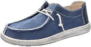MMOOVV Herren Lederschuhe Business Pointed Fashion Canvas Schuhe Sneaker(EU38/EU46)