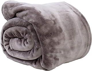 【しっとり艶感。とろける心地】 京都西川 毛布 ダブル 西川 軽量 洗える 「スモーキー」 無地 グレー 肌寒い時期にちょうどいい ニューマイヤー 春 秋 なめらか ブランケット 冬 薄手 光沢 インナーケット ふわふわ さらさら 180×210cm