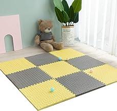 Mahfei Puzzelmat van schuimrubber, beschermmat voor kinderen, gymnastiek, zacht en comfortabel, sterk rond, vermindert de ...
