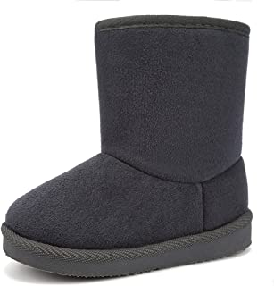 FANTURE Toddler Snow Boots for Girls Boys Winter Warm Fur Lined Kids Non Slip Outdoor Shoes (Toddler/Little Kid)