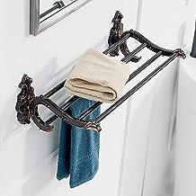 Yxsd Handdoekenrek Badkamerplank Wandmontage Zwart Handdoekenrek Houder Handdoekenrek Handdoekenrek Kledingrek