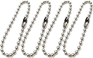 SUPVOX Portachiavi a fascetta lunga Catenella a pallina Catena portachiavi regolabile in metallo anticato per catena 100 p...