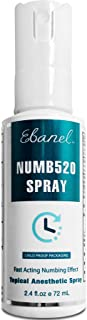 Ebanel 5% Lidocaine Spray Maximum Strength, 2.4 Fl Oz Numbing Spray Enhanced with 0.25% Phenylephrine, Topi...