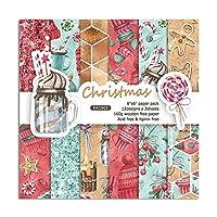 YFAXrb 24PC 6インチクリスマススクラップブック作りパッド紙DIYスクラップブック紙パック折り紙アートクラフトフォトアルバムの背景紙カードメイキング カラー装飾紙 (Color : 1 Set)