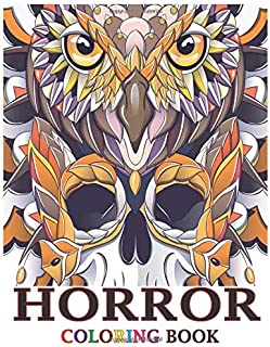 Horror Coloring Book: A Horror Coloring Book with Terrifying Monsters, Evil Women, Dark Fantasy Creatures, and Gothic Scen...