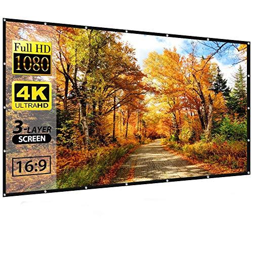 Tela de projeção grande de 150 polegadas da NXSI, tela de projeção HD de tela 16:9, dobrada para home theater externo