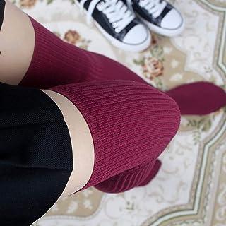 1 Paia Donna Calze Sopra Al Ginocchio Calze Primavera Autunno Inverno Maglia Calda Calze Alte Calze Lunghe Tinta Unita Cal...