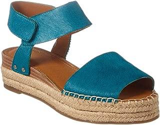 Franco Sarto Women's Oak Sandal, Aruba Blue Leather, 9 M