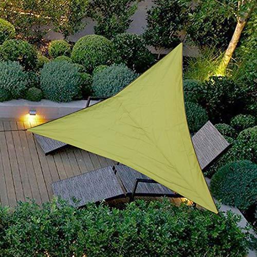 HXHON - Toldo triangular para el sol para exteriores, triangular, cortina de cielo impermeable, toldo plegable, 3 x 3 x 3 m, C