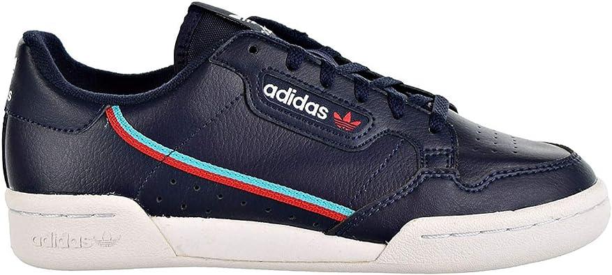 adidas Kids Continental 80 J Sneaker (Grade School) - Blue Red
