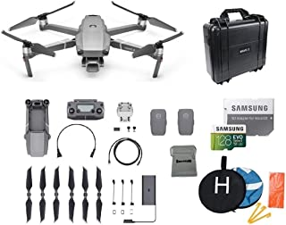 DJI Mavic 2 Pro Drone Quadcopter Bundle with 2 Batteries, Waterproof Hard Carrying Case, Landing Pad, 128GB SD Card Supports 4K Video