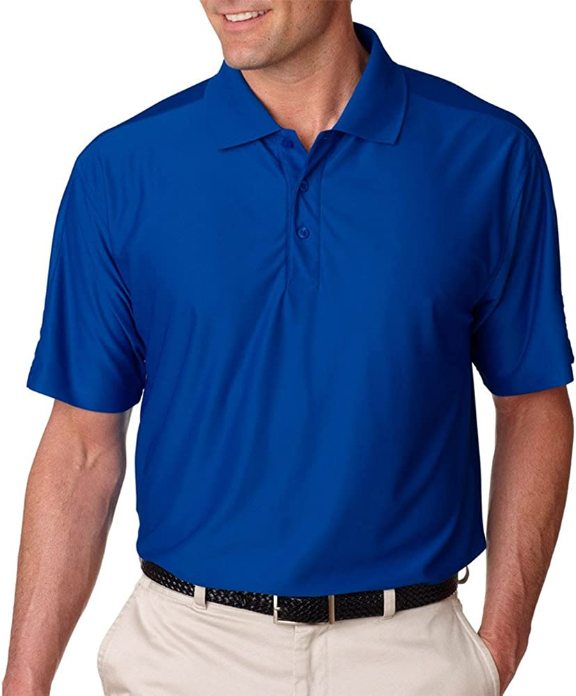 UltraClub Cool & Dry Men's T Elite Polo Shirt, Royal, XX-Large Tall