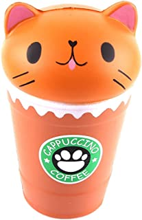 Squishes Toys , Elevin(TM)👍👍 Kawaii Squeeze Squishy Slow Rising Jumbo Giant Scented Cartoon Cute Coffee Cup Cat Stress Reliever Toy
