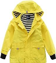 Hiheart Boys Girls Waterproof Hooded Jackets Cotton Lined Rain Jackets