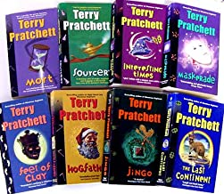 Pratchett Fiction Collection Eight-book Set (Mort, Sourcery, Interesting Times, Maskerade, Feet of Clay, Hogfather, Jingo, The Last Continent) (Mass Market Paperback)
