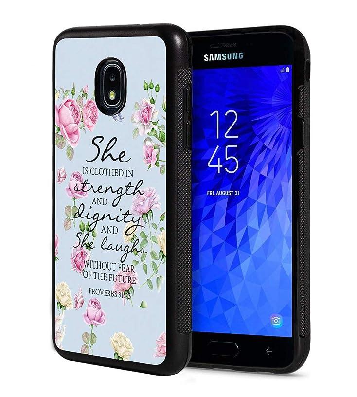Galaxy J7 2018/J7 V 2018/J7 Refine/J7 Star Case,Quotes Bible Verse Proverbs 31:25 Design Slim Anti-Scratch Rubber Protective Cover for Samsung Galaxy J7 (2018)