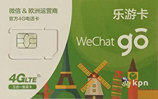 Wechat go ヨーロッパ周遊プリペイドSIMカード 15日間 4G/3Gデータ通信1.5GB