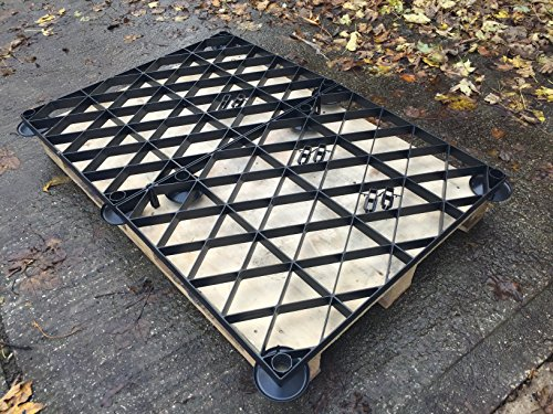 GARDEN SHED BASE ELEVATED GRID KIT 14x10 or 4.25x3.07m = FULL ECO KIT PLASTIC ECO PAVING BASE GRIDS & ELEVATING FEET
