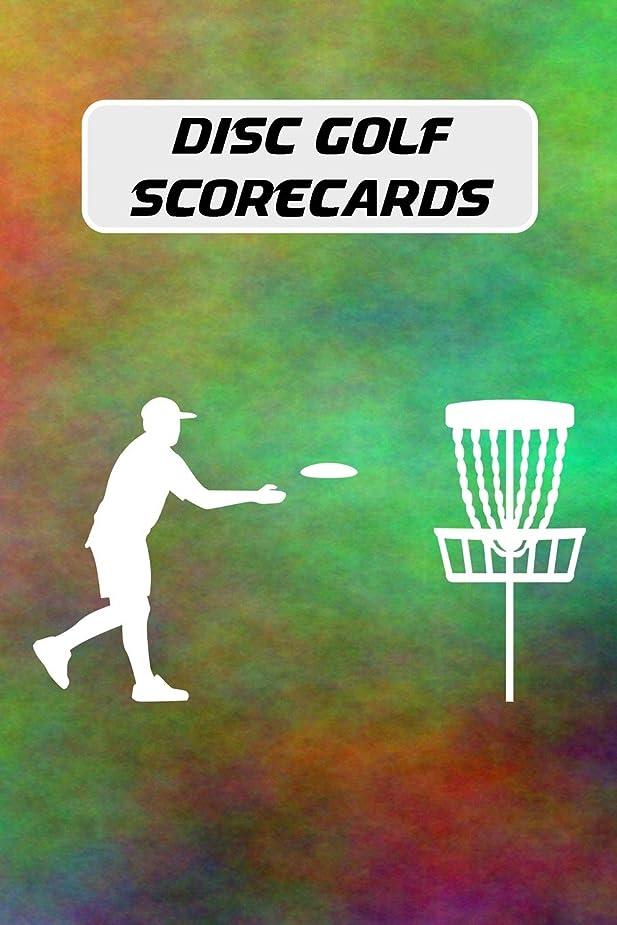 収容する効率アスリートDisc Golf Scorecards: Disc golf score keeper with 100 scorecards (6x9 in.) - tie dye cover
