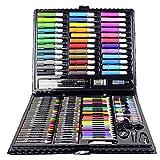 Aemiy 150 Unids/Set Kit de Herramientas de Dibujo con Caja de Pintura Pincel Art Marker Water Color Pen Crayon Regalo de Los Ni?os